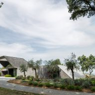 An angular Portuguese house made from concrete