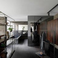 A bathroom inside Cork Oak House by Hugo Pereira