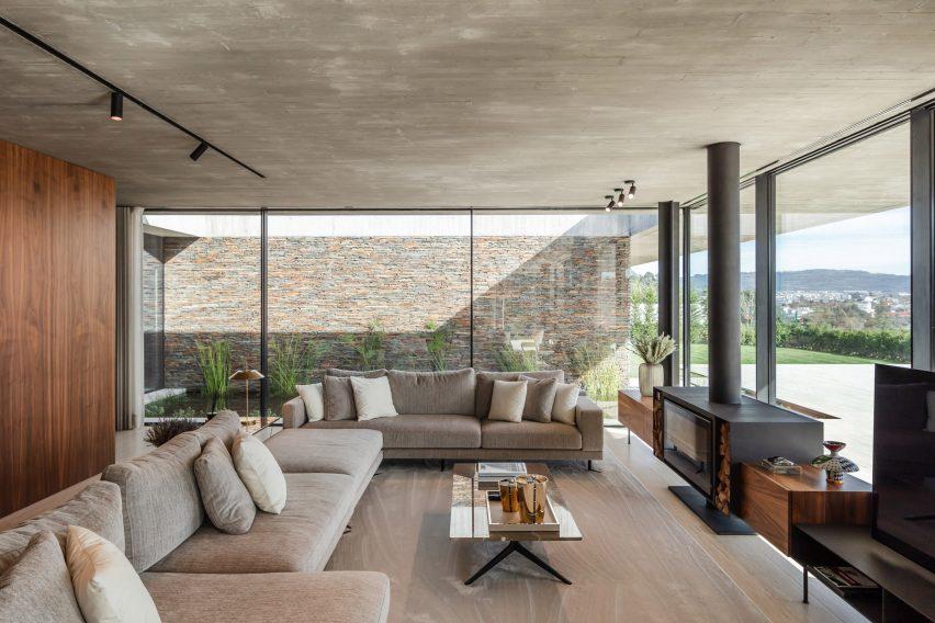Living room in Cork Trees House