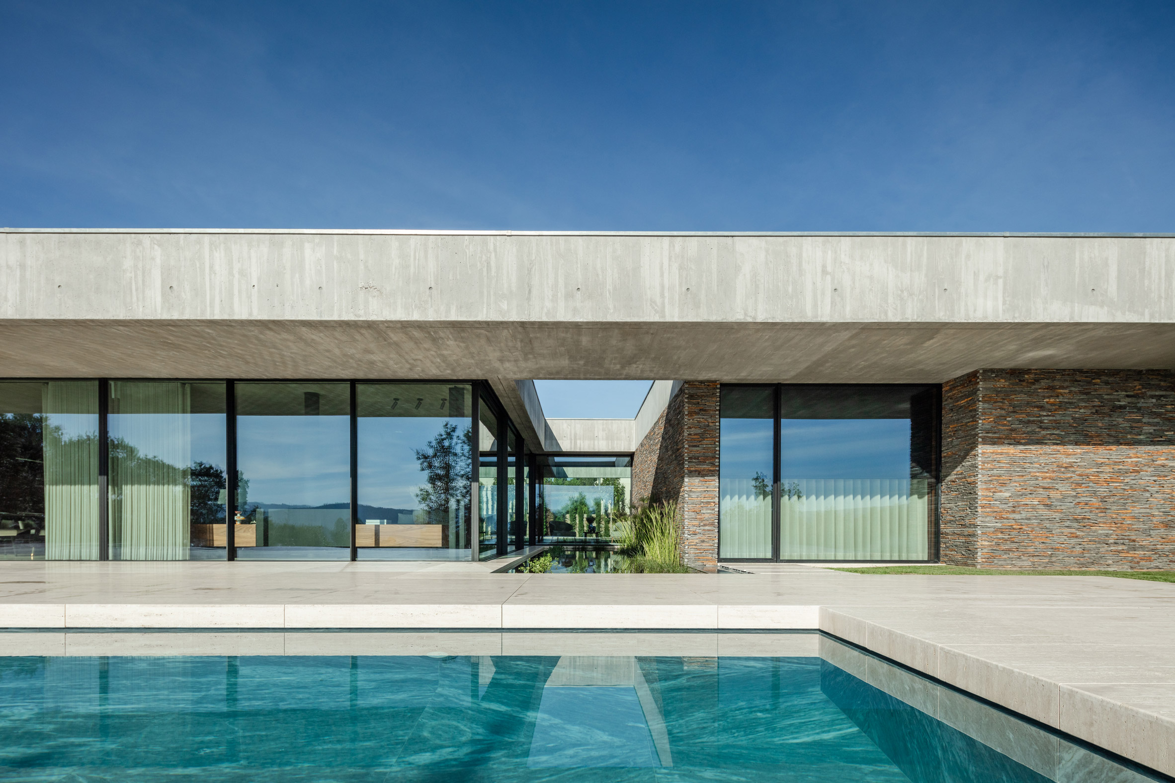 Stone and concrete facade of Portuguese house