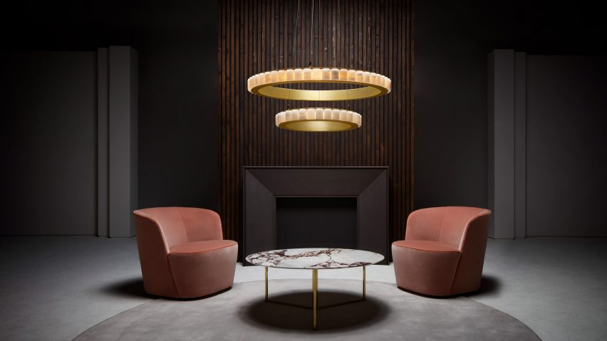 Halo chandelier by CTO Lighting