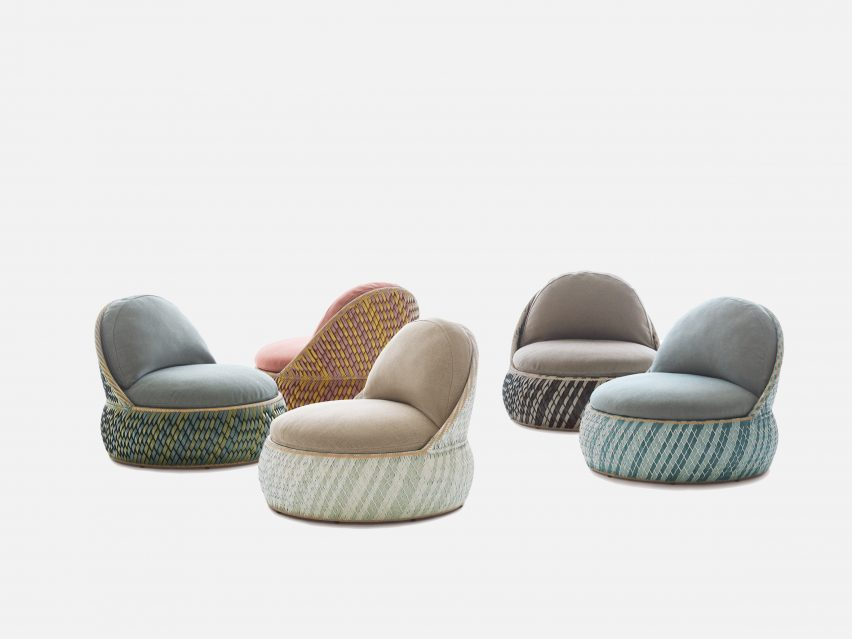 Dala seating woven using Filipino craft techniques by Stephen Burks for Dedon