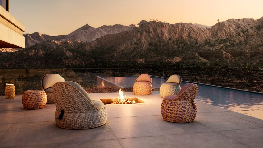 Outdoor seating by Dedon