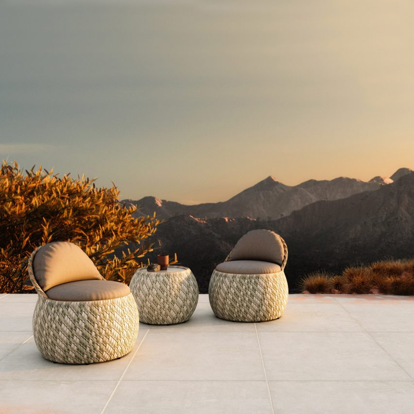 Dala seating collection by Stephen Burks for Dedon