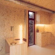 OSB interior of cabin