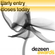 Dezeen Awards 2021 early entry closes today