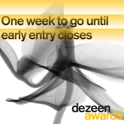 Dezeen Awards 2021 one week to go until early entry closes