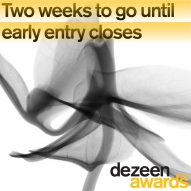 Two weeks left to get early entry discounts for Dezeen Awards 2021