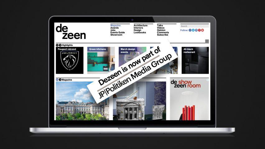 Dezeen acquired by JP/Politiken Media Group