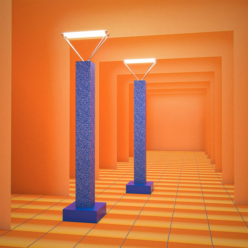 Ettore Sottsass' 1979 Svincolo floor lamps and Silent Circle's 1986 album No1