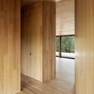 White oak forms the interior