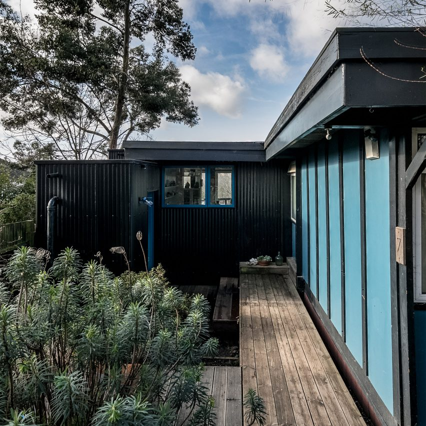 A self-build house in London with black cladding