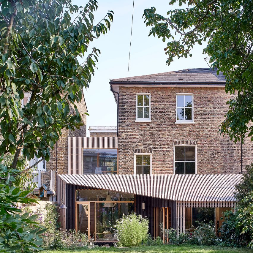 A two-storey house extension in London
