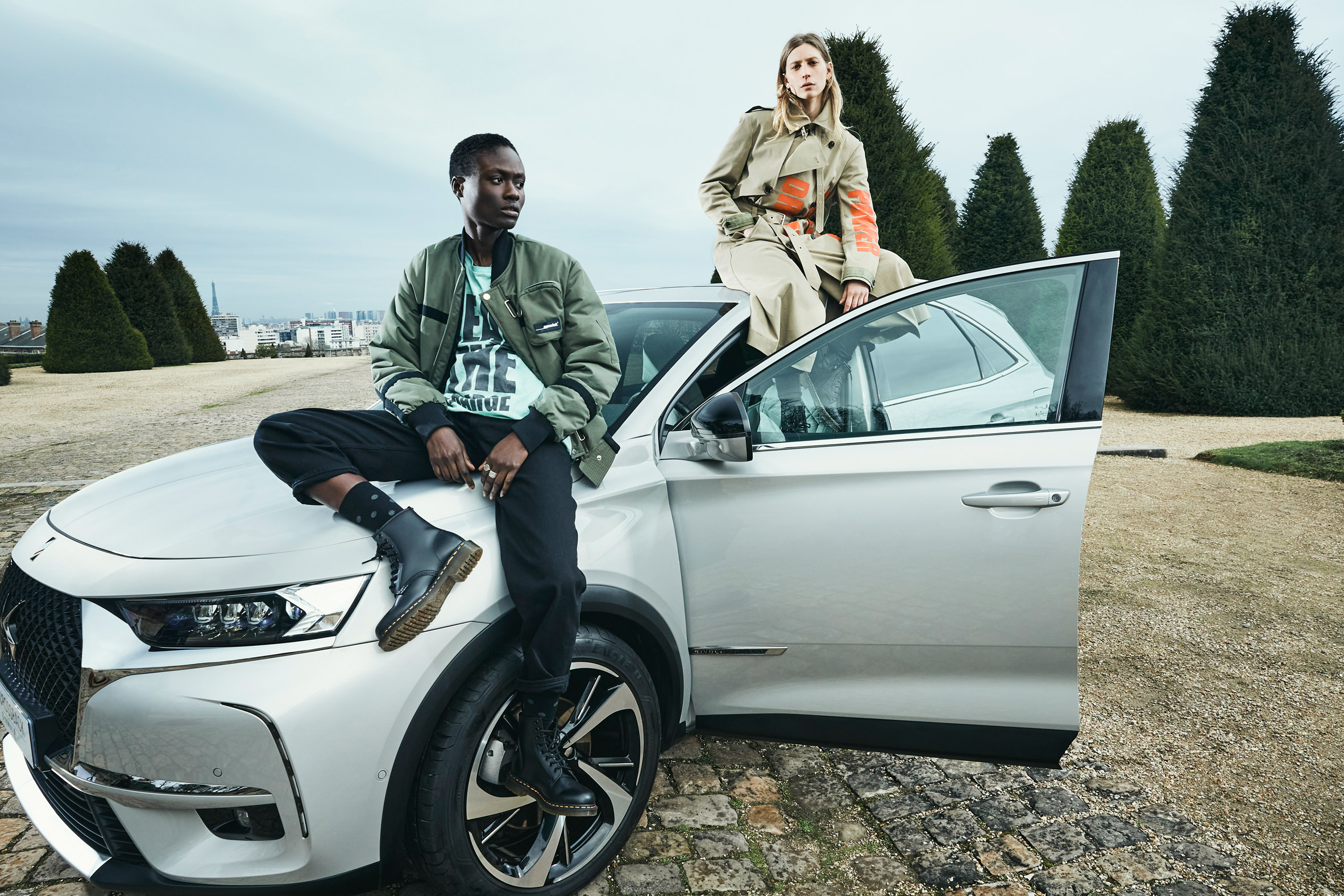 Carbon capturing clothing from capsule collection by EgonLab and Post Carbon Lab in collaboration with DS Automobiles