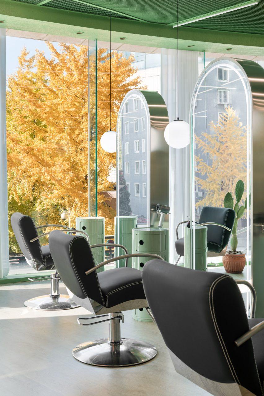 Furniture has an Italian modern theme