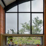 Large windows in El Povenir Children Center