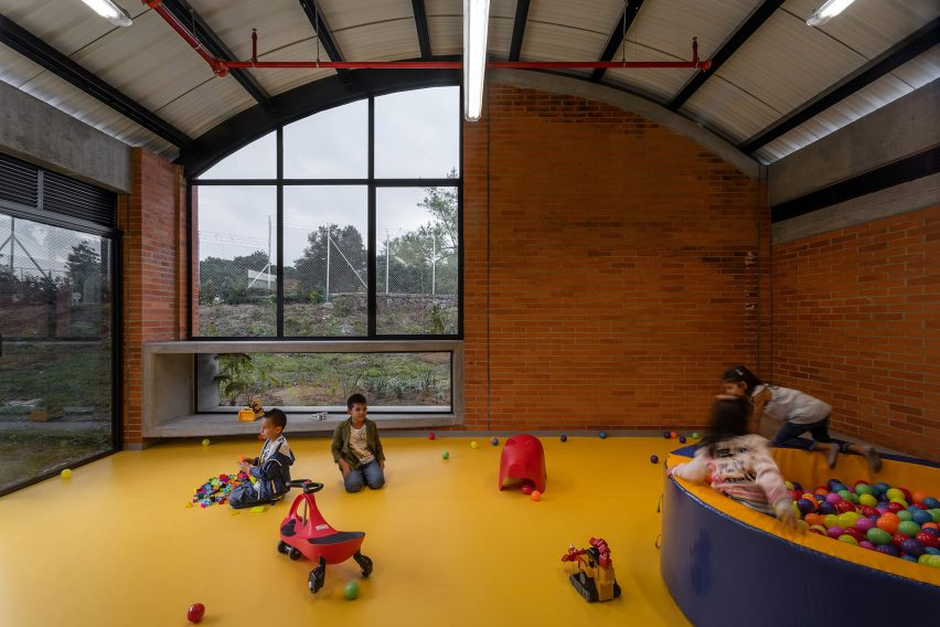 The children's centre is by architecture firm Taller Sintesis