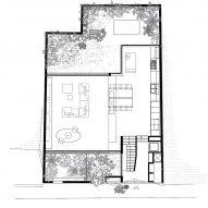 Ground floor plan of Eucalyptus House by Paritzki & Liani Architects