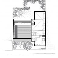 Second floor plan of Eucalyptus House by Paritzki & Liani Architects