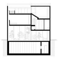 Cross section of Eucalyptus House by Paritzki & Liani Architects