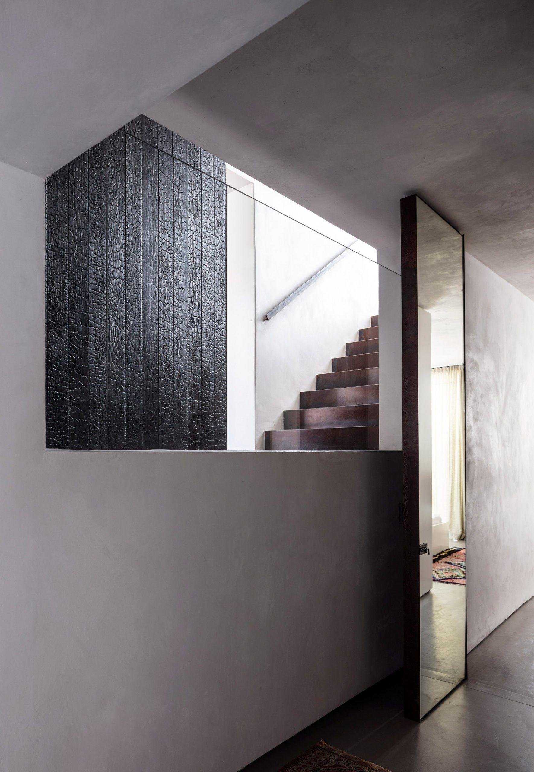 Staircase in Eucalyptus House by Paritzki & Liani Architects