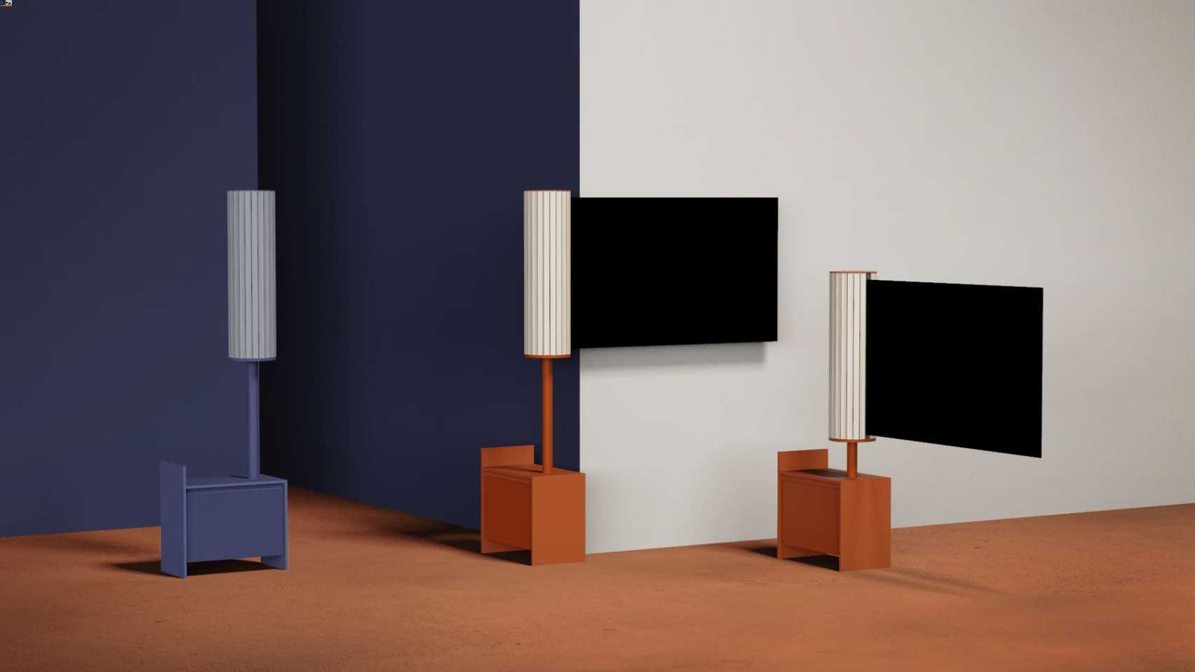Flag R rollable TV by Doyeon Shin on the shortlist for the Dezeen and LG Display OLED Go competition