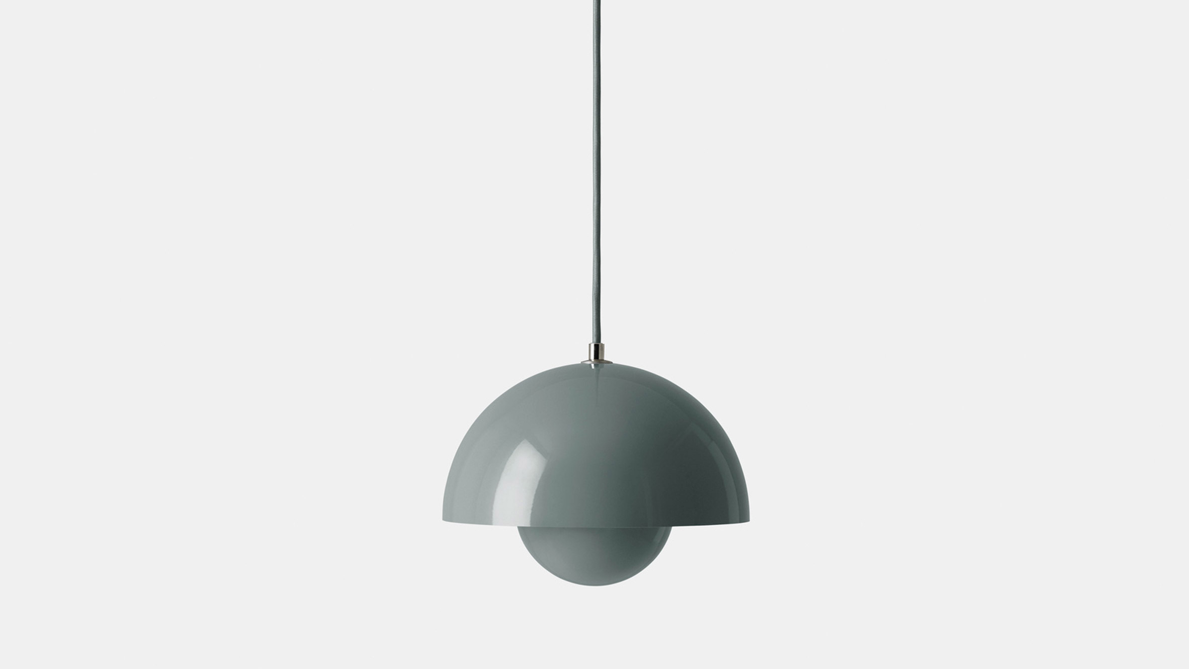 A steely blue pendant light by Verner Panton for &tradition