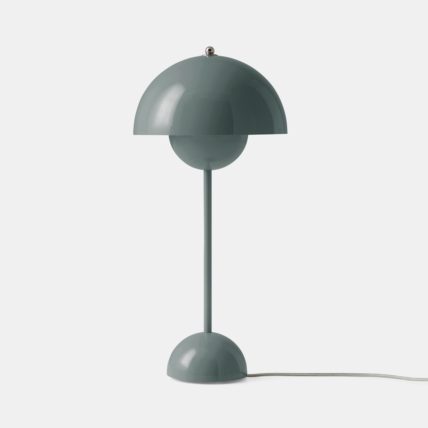 A Stone Blue Flowerpot lamp by Verner Panton for &tradition