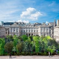 Es Devlin to fill Somerset House courtyard with 400 trees for London Design Biennale