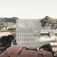 FRPO drapes metal screen over concrete car park and co-working space in Mexico