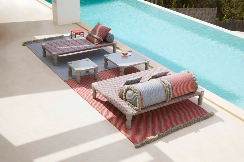 Collection by a pool by Patricia Urquiola