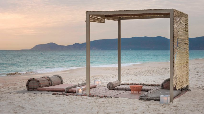 Garden Layers collection on the beach by Patricia Urquiola