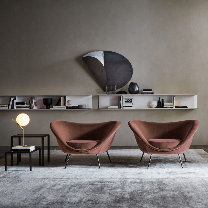 D.154.2 armchair by Gio Ponti via Molteni&C