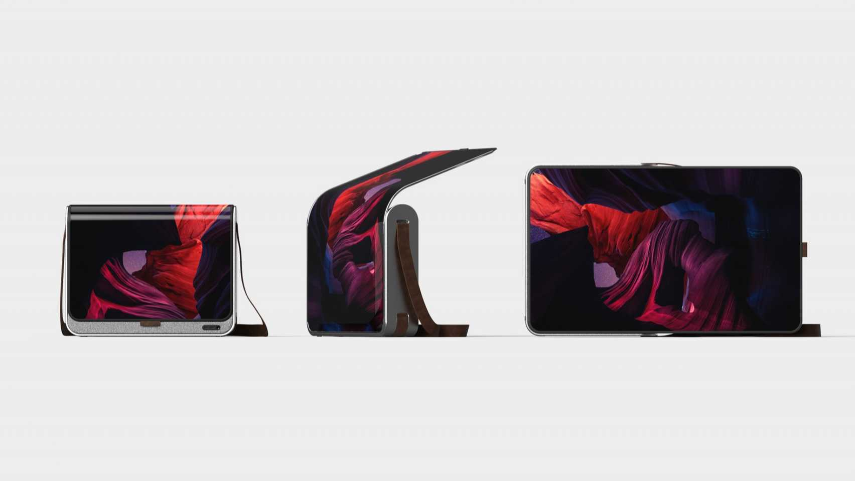 Glide by Emilios Farrington-Arnas screen carryall bag on the Dezeen and LG Display OLED Go competition shortlist