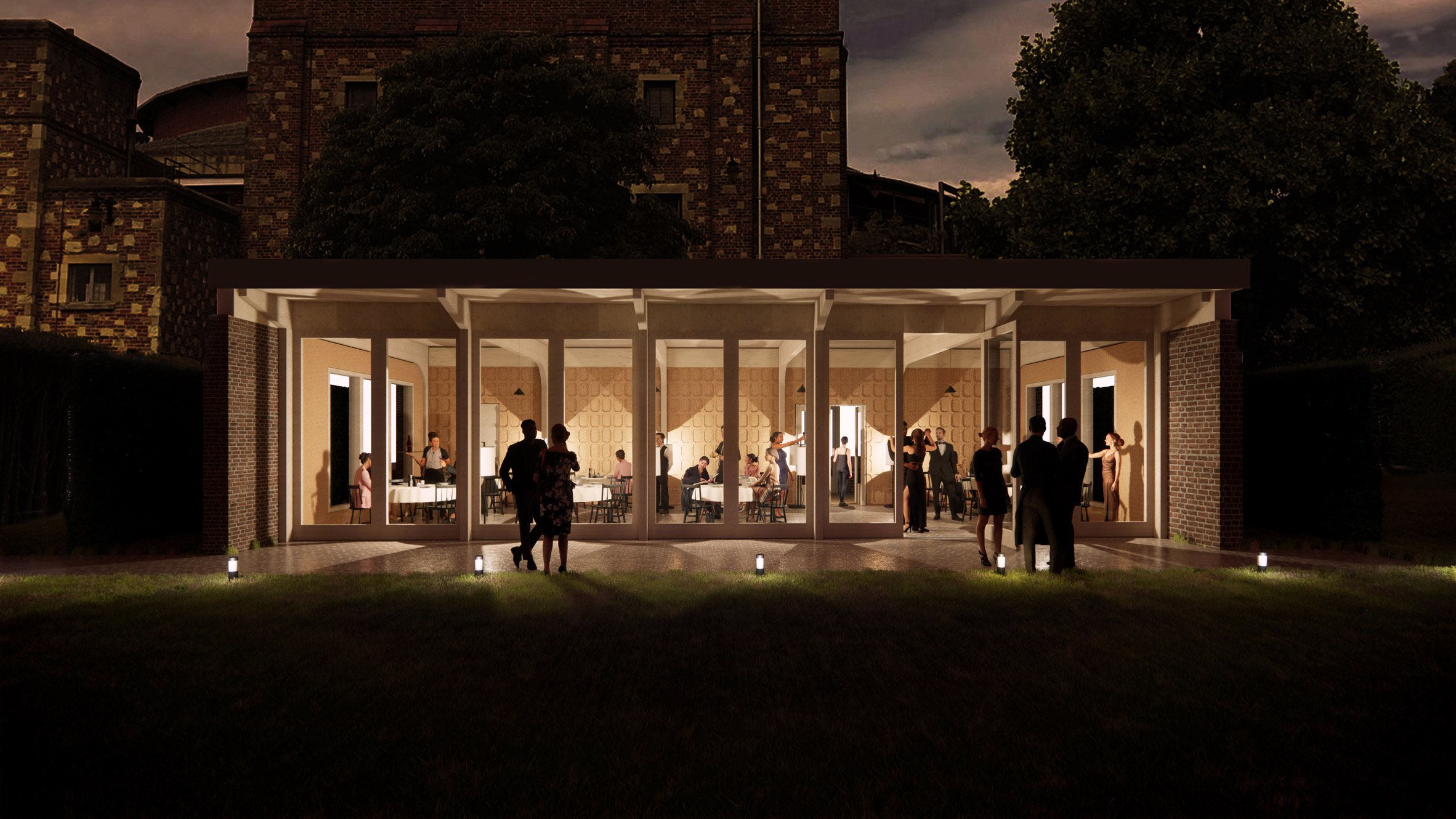 A visual of a garden events space