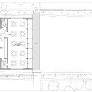 Floor plan of Glyndebourne Croquet Pavilion