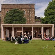 Recyclable croquet pavilion to be made from champagne corks and oyster shells