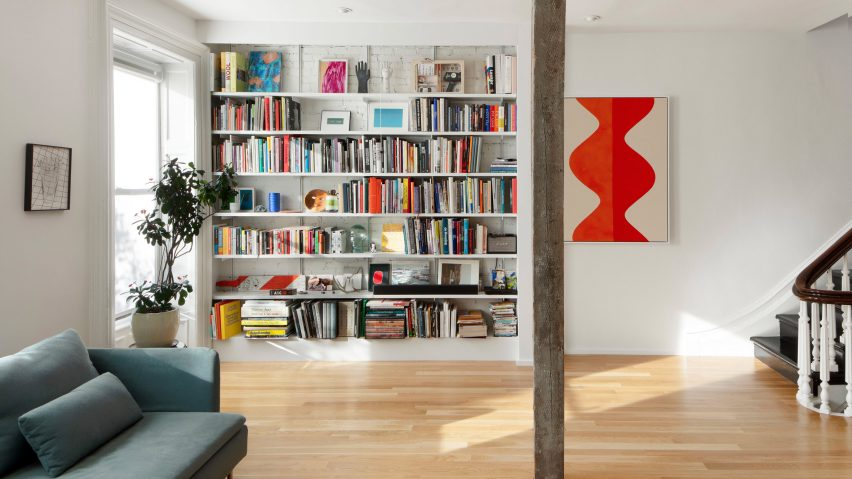 The live-work space is in a Brooklyn townhouse