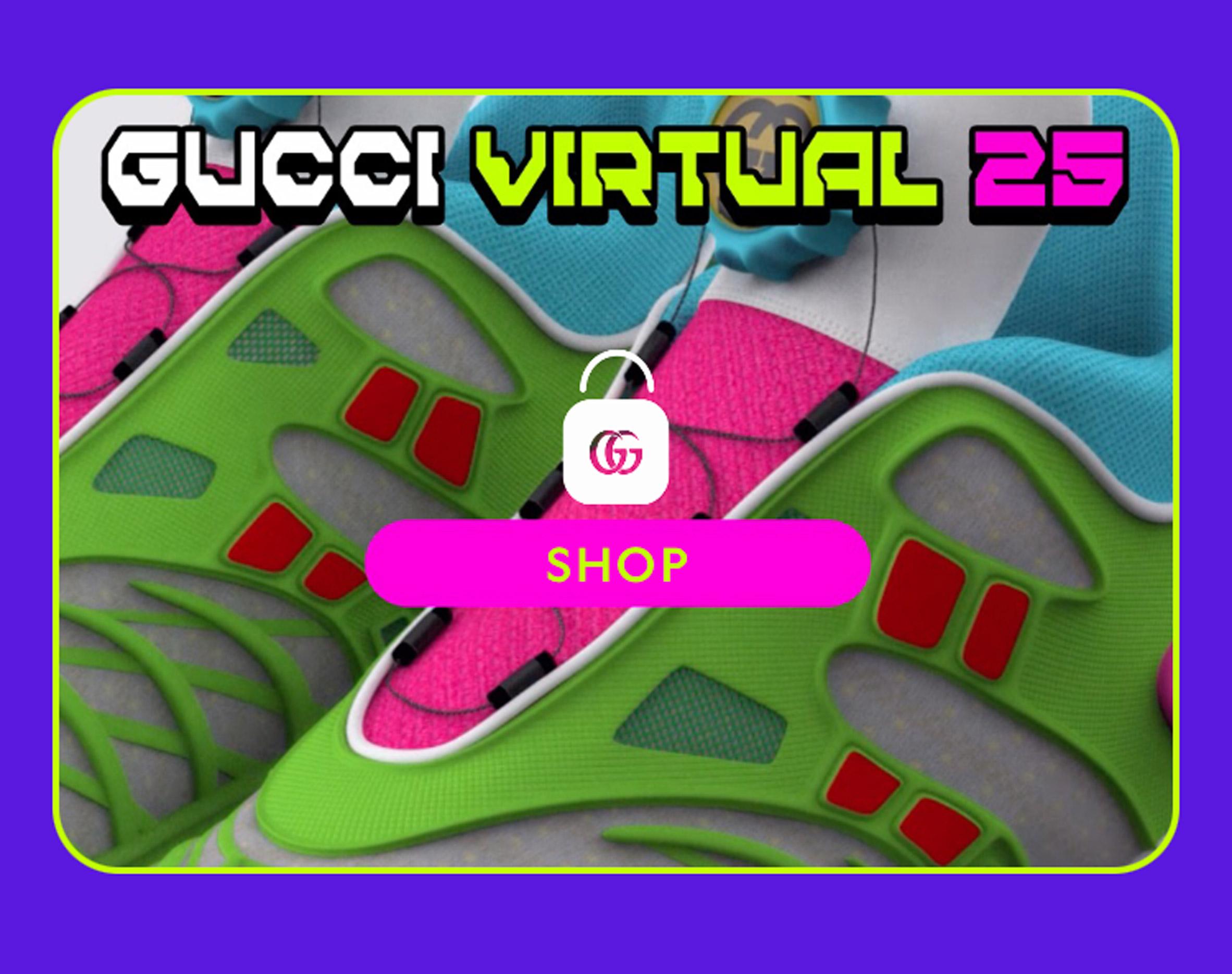 Virtual 25 trainer in Gucci app