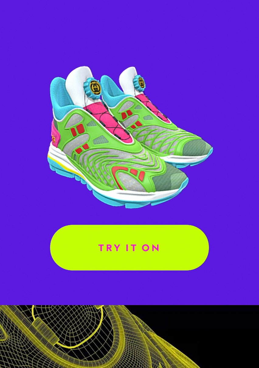 Digital only sneaker try-on graphic