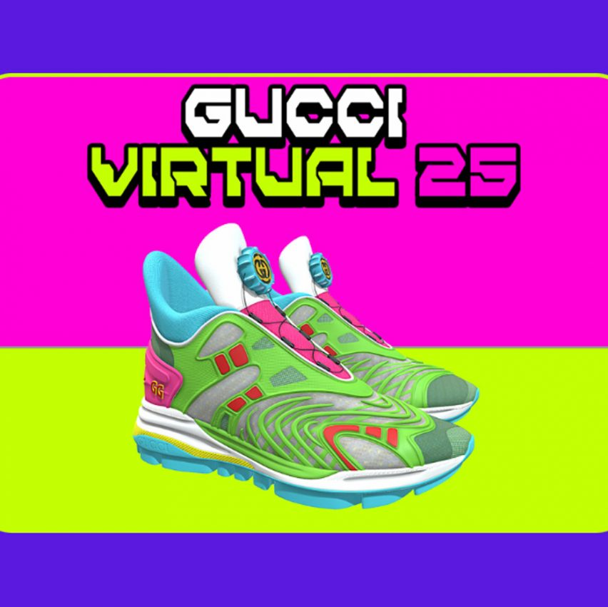 Gucci Virtual 25 trainer in collaboration with Wanna