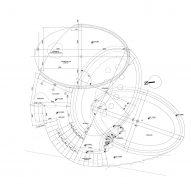 Guðlaug Baths by Basalt Architects viewing deck level plan