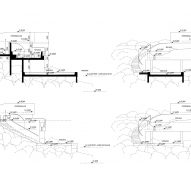Guðlaug Baths by Basalt Architects sections and elevations