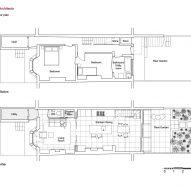 Lower ground floor plan of Haringey Glazed Extension by Satish Jassal Architects