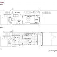 Upper ground floor plan of Haringey Glazed Extension by Satish Jassal Architects