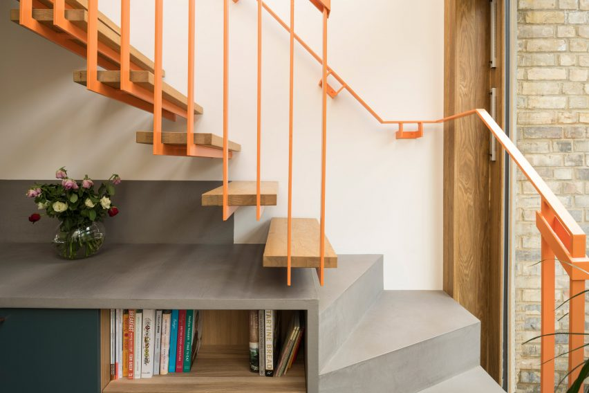 Staircase in Haringey Glazed Extension by Satish Jassal Architects