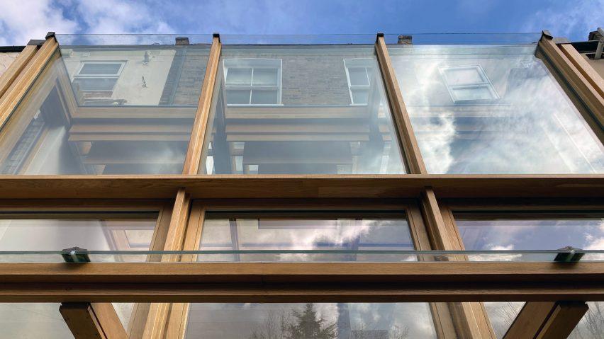 Glazing of Haringey Glazed Extension by Satish Jassal Architects
