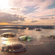 A visual of a floating thermal storage in Helsinki
