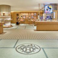 The interiors of Hermès Omotesando