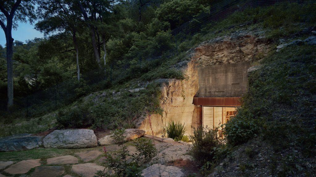 Clayton Korte embeds hidden wine cave into Texas hillside